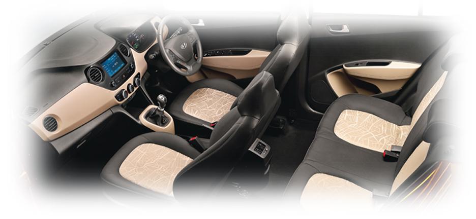 nội thất hiện đại xe i10