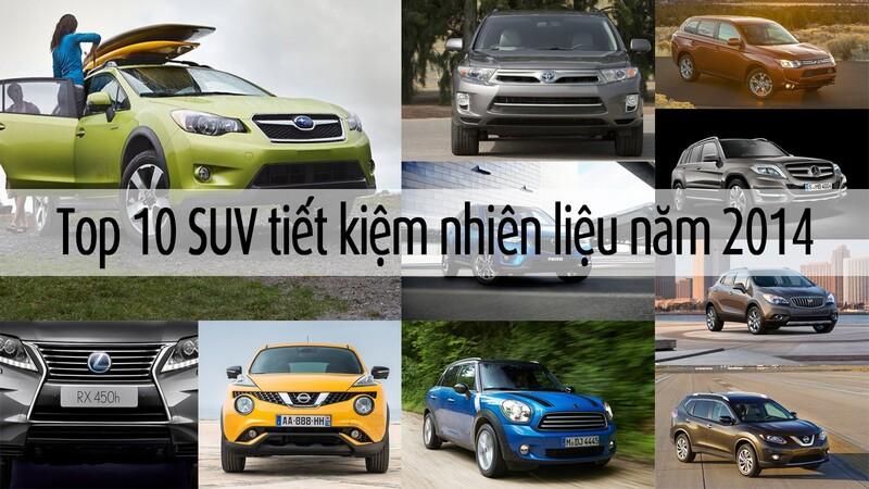 10 mẫu xe SUV tiết kiệm nhiên liệu nhất