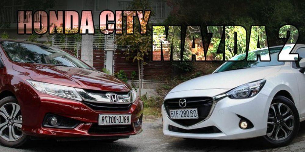 Mazda 2 vs Honda city 2015